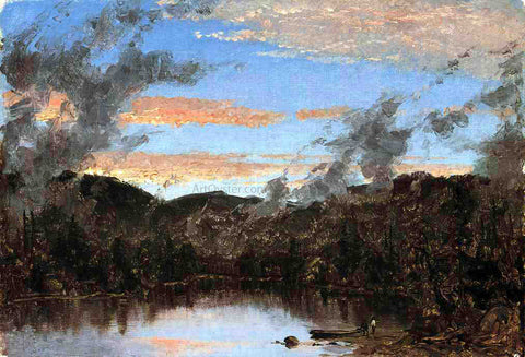 Sanford Robinson Gifford A Mist Rising at Sunset in the Catskills - Hand Painted Oil Painting