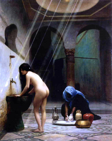 Jean-Leon Gerome A Moorish Bath (also known as Turkish Woman Bathing) - Hand Painted Oil Painting