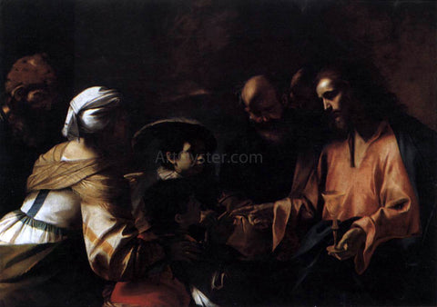 Mattia Preti A Mother Entrusting Her Sons to Christ - Hand Painted Oil Painting