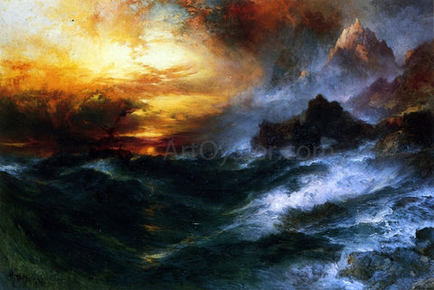 Thomas Moran A Mountain of Loadstone - Hand Painted Oil Painting