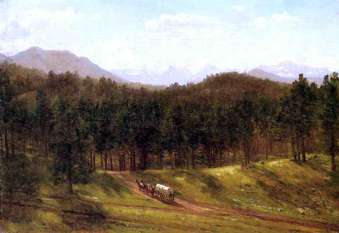 Thomas Worthington Whittredge Mountain Trail, Colorado - Hand Painted Oil Painting