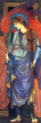 Sir Edward Burne-Jones A Musical Angel - Hand Painted Oil Painting