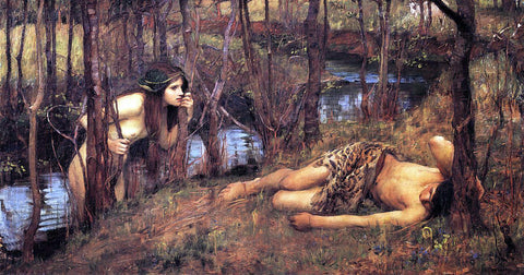 John William Waterhouse A Naiad - Hand Painted Oil Painting