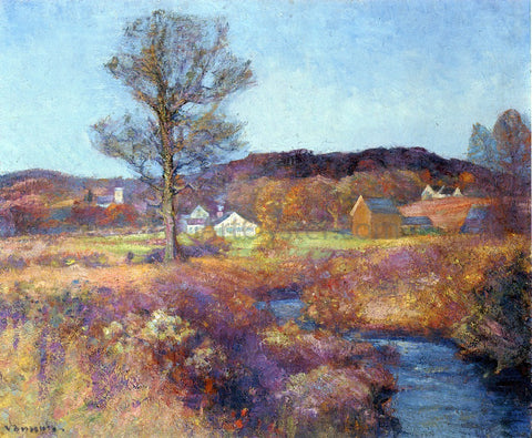 Robert Vonnoh A New England Valley - Hand Painted Oil Painting