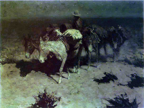 Frederic Remington The Pack Train - Hand Painted Oil Painting