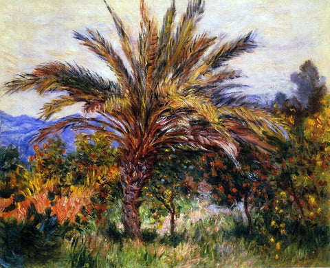 Claude Oscar Monet A Palm Tree at Bordighera - Hand Painted Oil Painting
