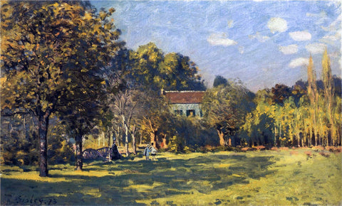 Alfred Sisley A Park in Louveciennes - Hand Painted Oil Painting