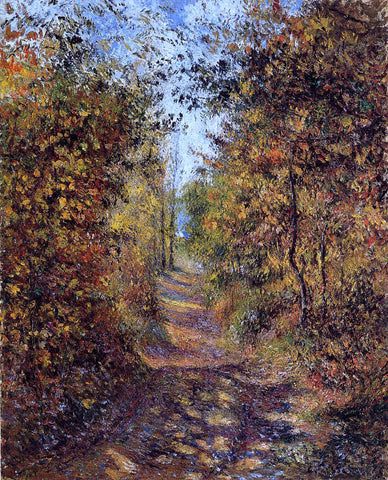 Camille Pissarro Path in the Woods, Pontoise - Hand Painted Oil Painting