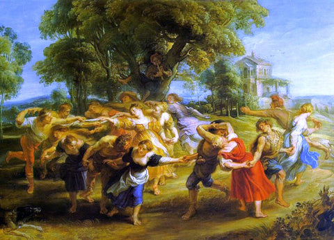 Peter Paul Rubens A Peasant Dance - Hand Painted Oil Painting