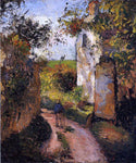 Camille Pissarro A Peasant in the Lane at l'Hermitage, Pontoise - Hand Painted Oil Painting