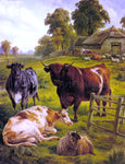 Charles Jones A Pedigree Bull - Hand Painted Oil Painting