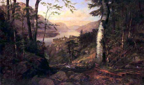 James Brade Sword A Peep into Lake George - Hand Painted Oil Painting