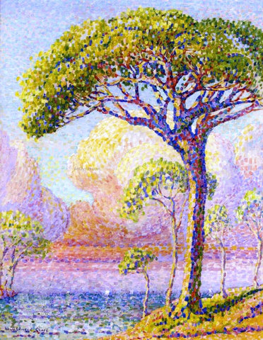 Henri Edmond Cross A Pine Tree - Hand Painted Oil Painting