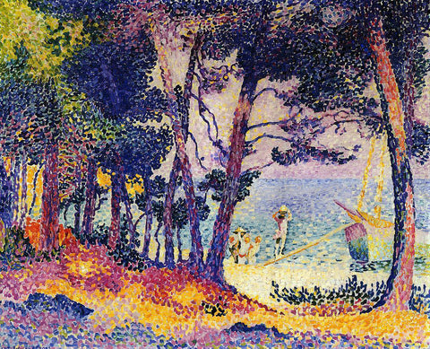 Henri Edmond Cross A Pine Wood, Provence - Hand Painted Oil Painting