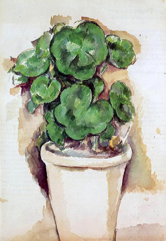 Paul Cezanne A Pot of Geraniums - Hand Painted Oil Painting