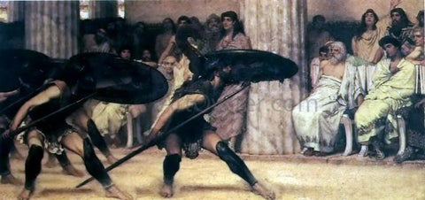 Sir Lawrence Alma-Tadema A Pyhhric Dance - Hand Painted Oil Painting
