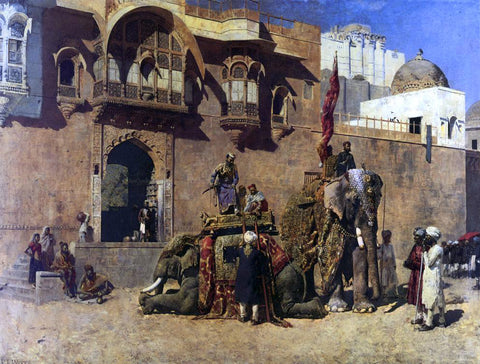 Edwin Lord Weeks A Rajah of Jodhpur - Hand Painted Oil Painting
