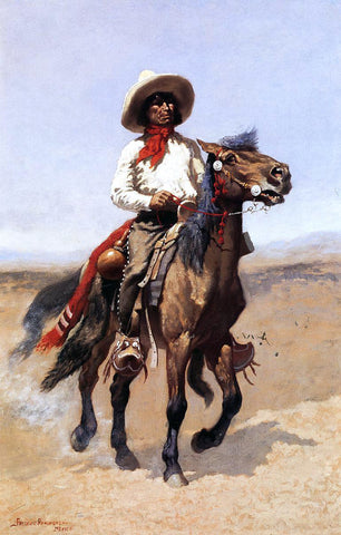 Frederic Remington A Regimental Scout - Hand Painted Oil Painting