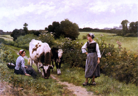 Edouard Bernard Debat-Ponsan A Rest Along the Way - Hand Painted Oil Painting