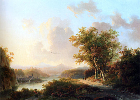Willem De Klerk A Rhenish Summer Landscape - Hand Painted Oil Painting