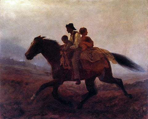 Eastman Johnson Ride for Freedom - The Fugitive Slaves - Hand Painted Oil Painting