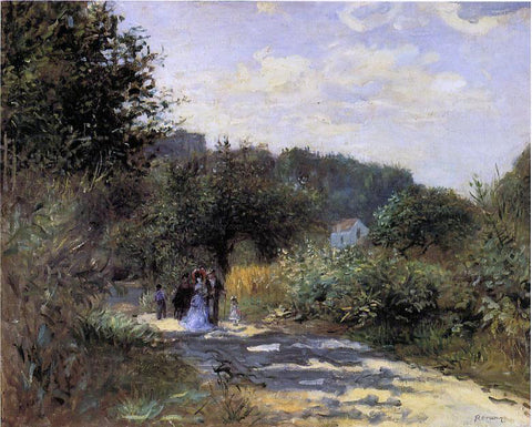 Pierre Auguste Renoir A Road in Louveciennes - Hand Painted Oil Painting