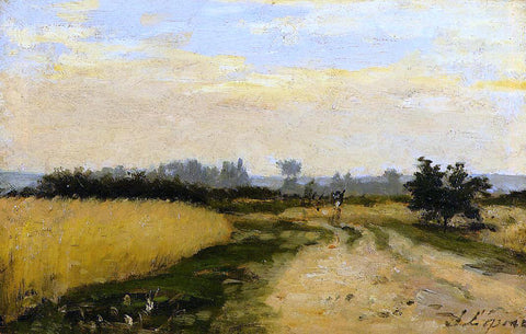 Stanislas Lepine A Road in the Countryside - Hand Painted Oil Painting