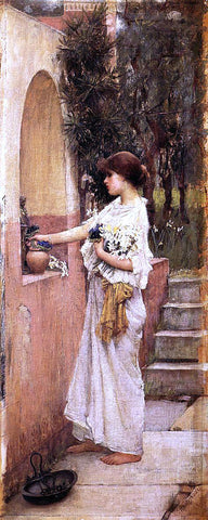 John William Waterhouse Roman Offering - Hand Painted Oil Painting