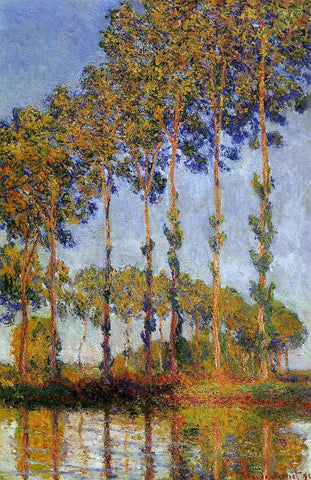 Claude Oscar Monet A Row of Poplars - Hand Painted Oil Painting