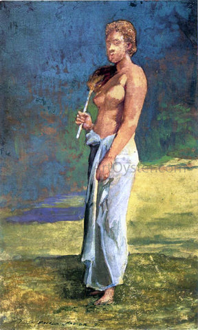 John La Farge A Samoan Lady - Hand Painted Oil Painting