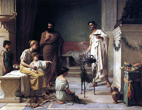 John William Waterhouse A Sick Child Brought into the Temple of Aesculapius - Hand Painted Oil Painting