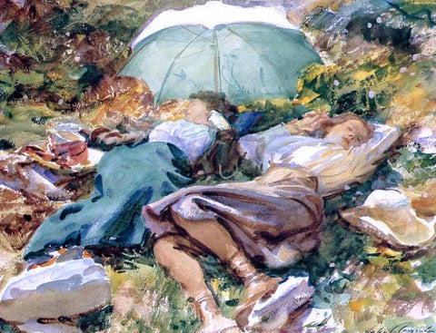 John Singer Sargent A Siesta - Hand Painted Oil Painting