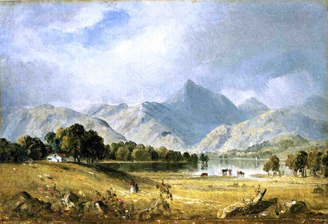 Sanford Robinson Gifford A Sketch of Derwentwater - Hand Painted Oil Painting