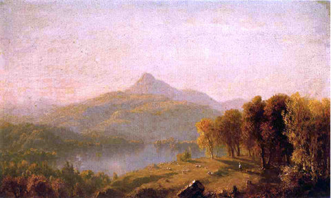 Sanford Robinson Gifford Sketch of Mount Chocorua - Hand Painted Oil Painting