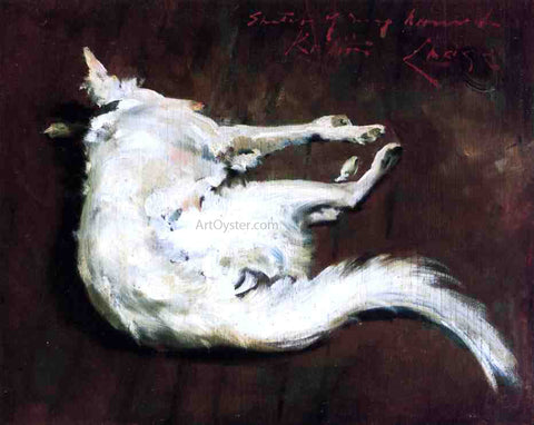 "William Merritt Chase A Sketch of My Hound ""Kuttie"" - Hand Painted Oil Painting"