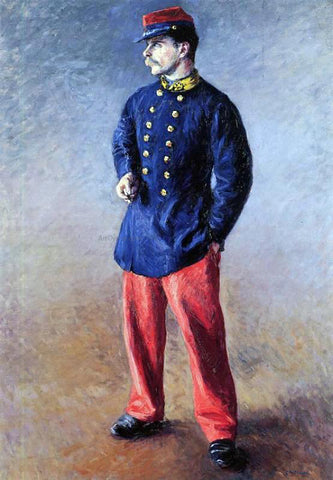 Gustave Caillebotte A Soldier - Hand Painted Oil Painting