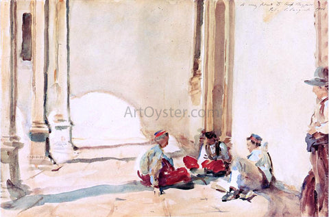 John Singer Sargent A Spanish Barracks - Hand Painted Oil Painting