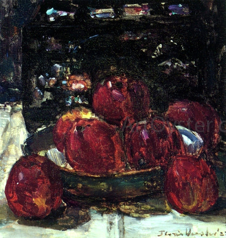 Floris Verster A Still Life with Red Apples on a Dish and a Japanese Lacquer Box - Hand Painted Oil Painting