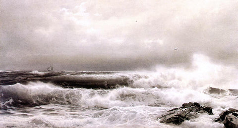 William Trost Richards A Storm - Hand Painted Oil Painting