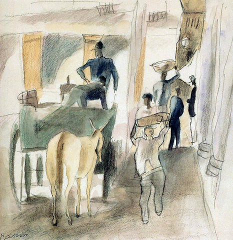 Jules Pascin A Street in Cuba - Hand Painted Oil Painting