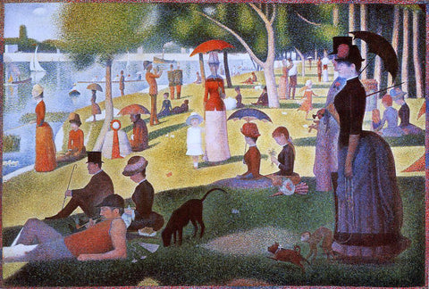 Georges Seurat A Sunday Afternoon on the Island of La Grande Jatte - Hand Painted Oil Painting