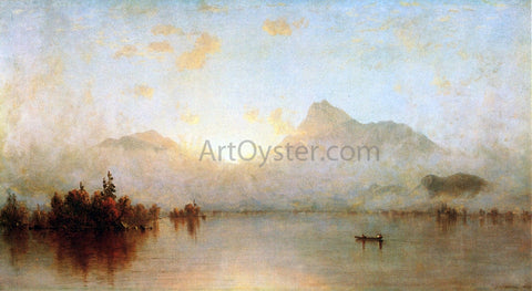 Sanford Robinson Gifford A Sunrise on Lake George - Hand Painted Oil Painting