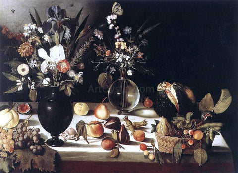 Master of Hartford Still-life A Table Laden with Flowers and Fruit - Hand Painted Oil Painting