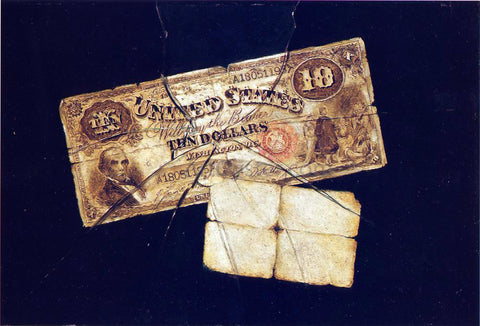 Nicholas Alden Brooks A Ten Dollar Bill - Hand Painted Oil Painting