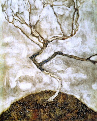 Egon Schiele A Tree in Late Autumn - Hand Painted Oil Painting