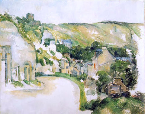 Paul Cezanne A Turn on the Road at Roche-Ruyon - Hand Painted Oil Painting