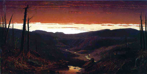 Sanford Robinson Gifford A Twilight in the Catskills - Hand Painted Oil Painting
