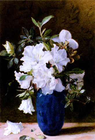 Kate Sadler A Vase Of Azaleas - Hand Painted Oil Painting