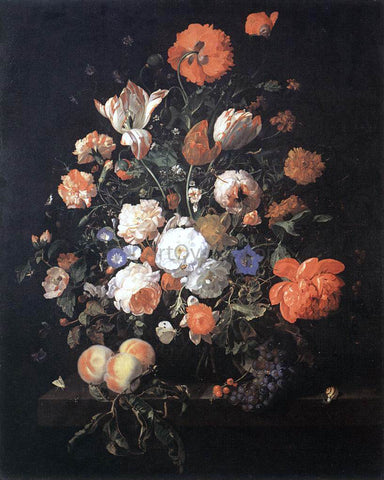Rachel Ruysch A Vase of Flowers - Hand Painted Oil Painting
