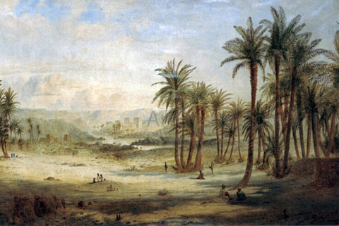Edward Lear A view of Philae - Hand Painted Oil Painting